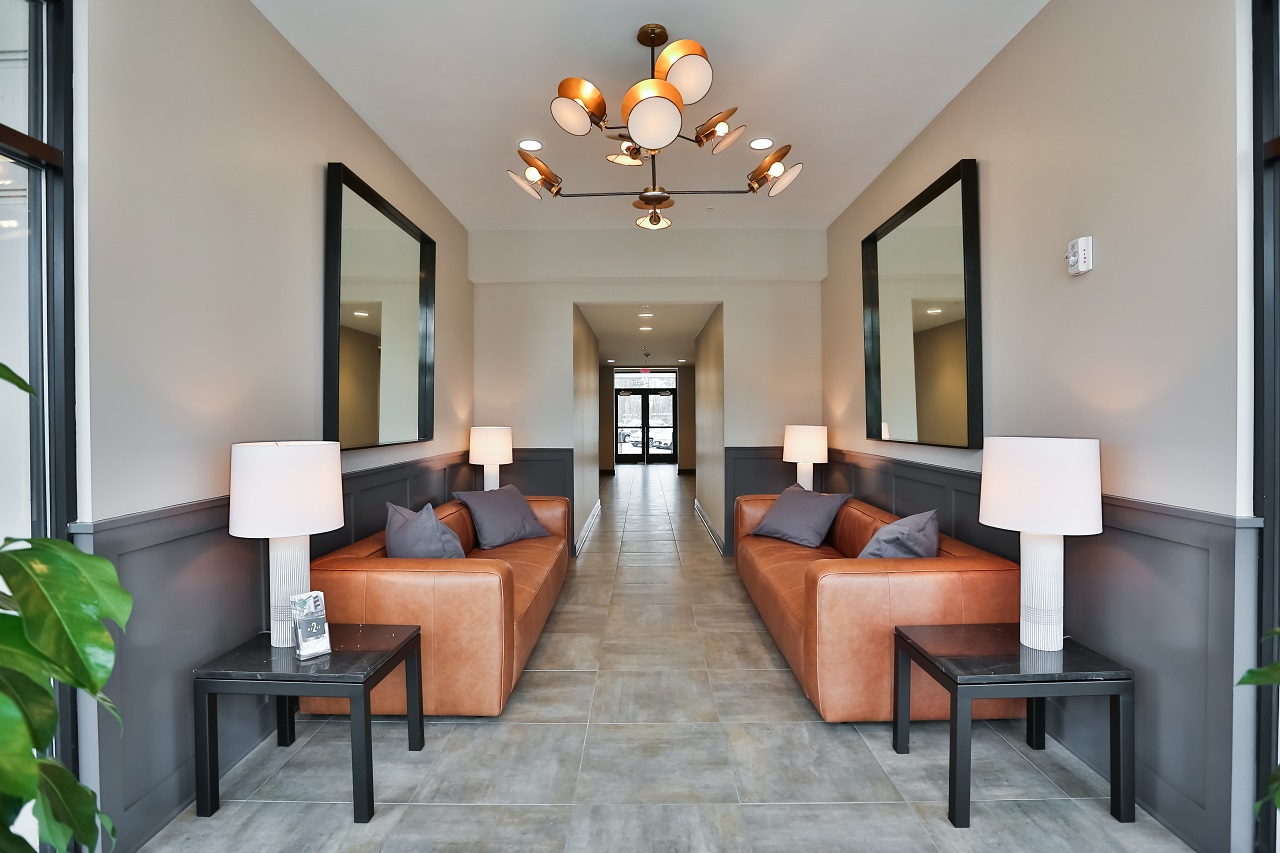 Lobby at 2 West Apartments